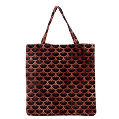 Scales3 Black Marble & Copper Paint (r) Grocery Tote Bag by trendistuff