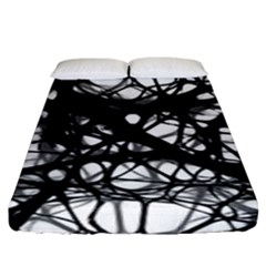 Neurons Brain Cells Brain Structure Fitted Sheet (King Size)