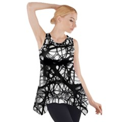 Neurons Brain Cells Brain Structure Side Drop Tank Tunic