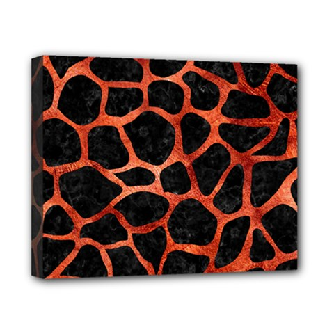 Skin1 Black Marble & Copper Paint Canvas 10  X 8  by trendistuff