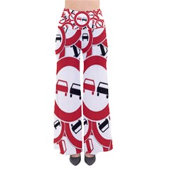 Overtaking Traffic Sign Pants