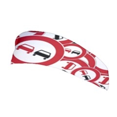 Overtaking Traffic Sign Stretchable Headband