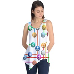 Icon Media Social Network Sleeveless Tunic