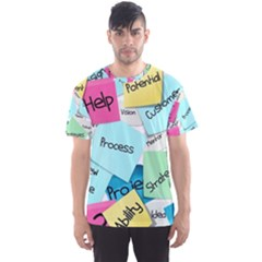 Stickies Post It List Business Men s Sports Mesh Tee by Celenk