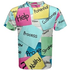 Stickies Post It List Business Men s Cotton Tee by Celenk