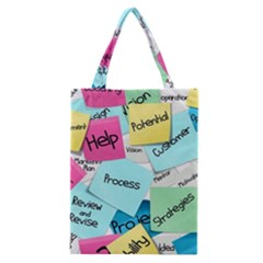 Stickies Post It List Business Classic Tote Bag by Celenk