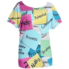 Stickies Post It List Business Women s Oversized Tee
