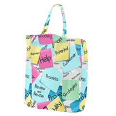 Stickies Post It List Business Giant Grocery Zipper Tote by Celenk