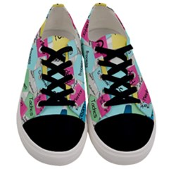 Stickies Post It List Business Men s Low Top Canvas Sneakers
