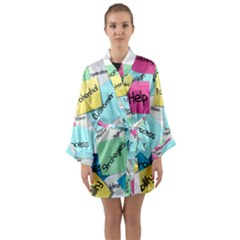 Stickies Post It List Business Long Sleeve Kimono Robe by Celenk