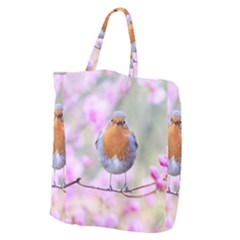 Spring Bird Bird Spring Robin Giant Grocery Zipper Tote by Celenk