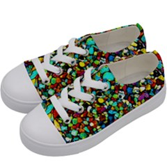 Colorful Stones, Nature Kids  Low Top Canvas Sneakers by Costasonlineshop