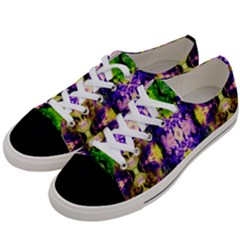 Green,purple Yellow ,goa Pattern Women s Low Top Canvas Sneakers by Costasonlineshop