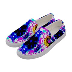 Design Abstract Blue, Pink, Black Women s Canvas Slip Ons by Costasonlineshop