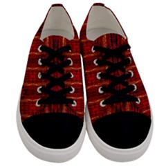 Red Gold, Old Oriental Pattern Men s Low Top Canvas Sneakers