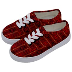 Red Gold, Old Oriental Pattern Kids  Classic Low Top Sneakers by Costasonlineshop