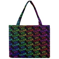 Thank You Font Colorful Word Color Mini Tote Bag
