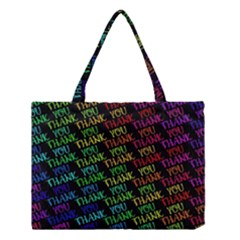 Thank You Font Colorful Word Color Medium Tote Bag