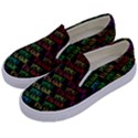 Thank You Font Colorful Word Color Kids  Canvas Slip Ons View2