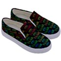 Thank You Font Colorful Word Color Kids  Canvas Slip Ons View3