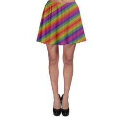 Spectrum Psychedelic Green Skater Skirt by Celenk
