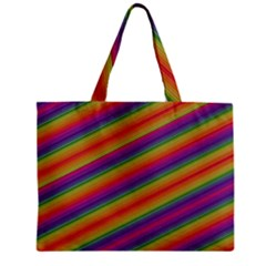 Spectrum Psychedelic Green Zipper Mini Tote Bag by Celenk