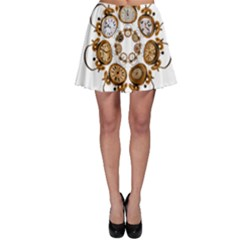 Time Clock Alarm Clock Time Of Skater Skirt