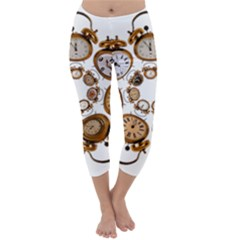 Time Clock Alarm Clock Time Of Capri Winter Leggings  by Celenk