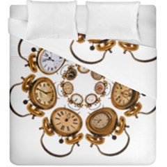 Time Clock Alarm Clock Time Of Duvet Cover Double Side (king Size) by Celenk
