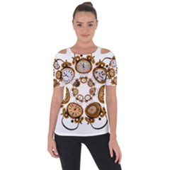 Time Clock Alarm Clock Time Of Short Sleeve Top