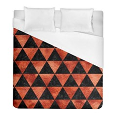 Triangle3 Black Marble & Copper Paint Duvet Cover (full/ Double Size)
