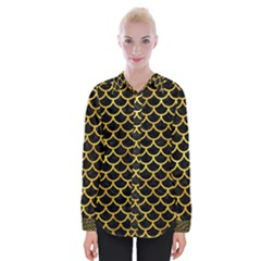 Scales1 Black Marble & Gold Paint (r) Womens Long Sleeve Shirt