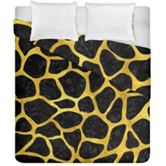 Skin1 Black Marble & Gold Paint Duvet Cover Double Side (california King Size) by trendistuff