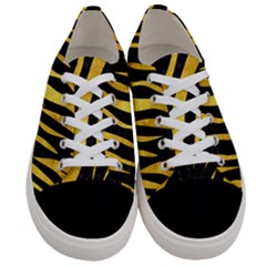 Skin3 Black Marble & Gold Paint (r) Women s Low Top Canvas Sneakers