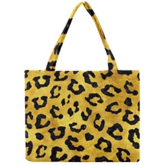 Skin5 Black Marble & Gold Paint (r) Mini Tote Bag by trendistuff