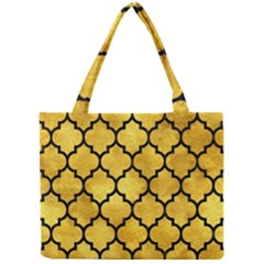 Tile1 Black Marble & Gold Paint Mini Tote Bag by trendistuff