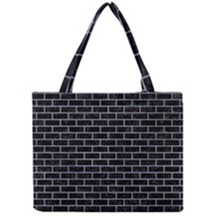 Brick1 Black Marble & Silver Paint (r) Mini Tote Bag by trendistuff