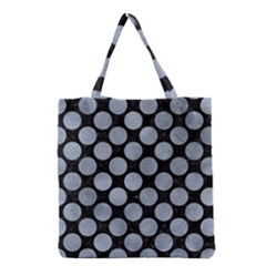 Circles2 Black Marble & Silver Paint (r) Grocery Tote Bag by trendistuff