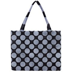 Circles2 Black Marble & Silver Paint (r) Mini Tote Bag by trendistuff