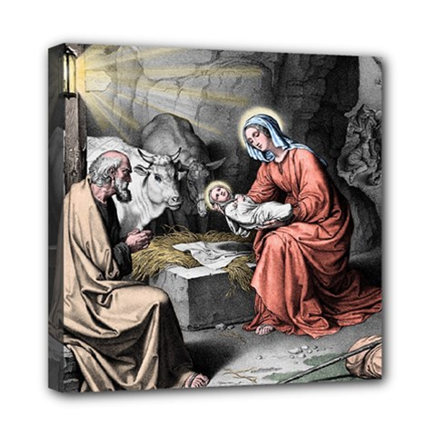 The Birth Of Christ Mini Canvas 8  X 8  by Valentinaart