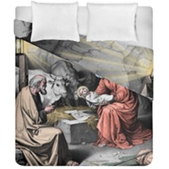 The Birth Of Christ Duvet Cover Double Side (california King Size) by Valentinaart