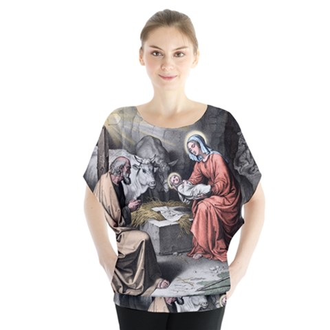 The Birth Of Christ Blouse by Valentinaart