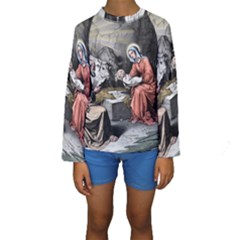 The Birth Of Christ Kids  Long Sleeve Swimwear