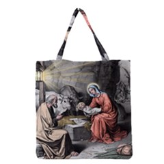 The Birth Of Christ Grocery Tote Bag