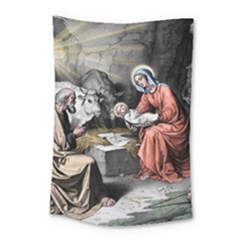 The Birth Of Christ Small Tapestry by Valentinaart