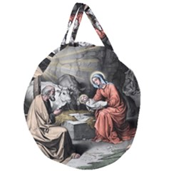 The Birth Of Christ Giant Round Zipper Tote
