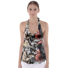 The Birth Of Christ Babydoll Tankini Top by Valentinaart