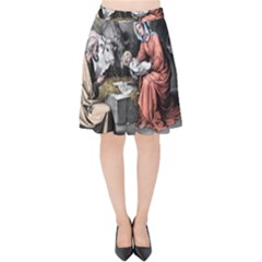 The Birth Of Christ Velvet High Waist Skirt by Valentinaart