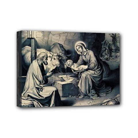 The Birth Of Christ Mini Canvas 7  X 5  by Valentinaart