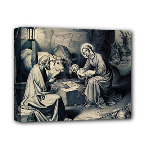The Birth Of Christ Deluxe Canvas 14  X 11  by Valentinaart